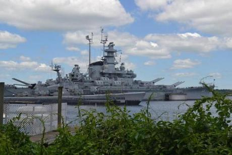Fall River, where the Taunton River meets Mount Hope Bay, draws many tourists eager to see the collection of World War II naval vessels at Battleship Cove.